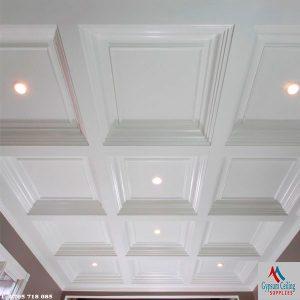 Gypsum ceiling Kenya design Coffered