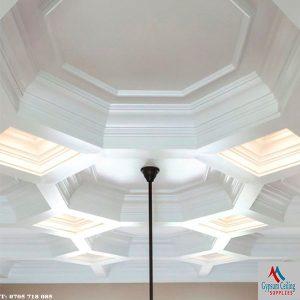 Gypsum ceiling designs coffered 2