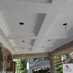 Gypsum ceiling designs coffered 3
